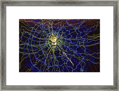 Computer Simulation Of A Spider Framed Print by Heidi & Hans-Juergen Koch