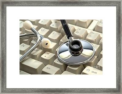 Computerized Medicine Framed Print by Olivier Le Queinec