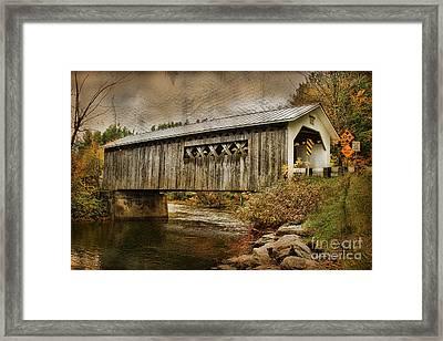 Comstock Bridge 2012 Framed Print by Deborah Benoit