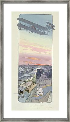 Comte Charles De Lambert Flying Framed Print by Marguerite Montaut