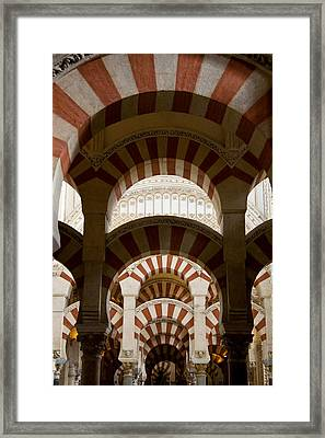 Concentric Arabic Arches Framed Print by Levin Rodriguez