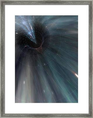 Conceptual Illustration Of A Wormhole Framed Print by Mark Garlick