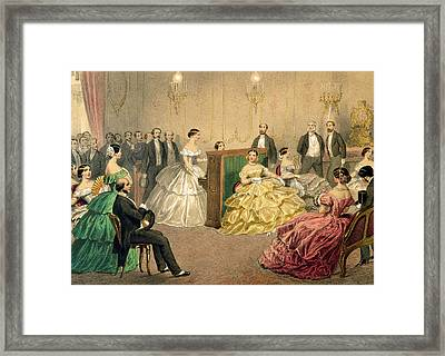Concert At The Chausee D'antin Framed Print by Henri de Montaut