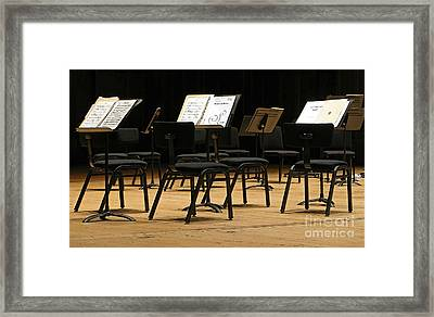 Concert Time Out Framed Print by Ann Horn