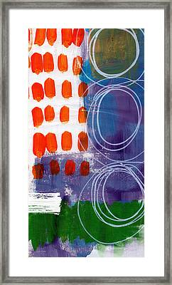 Concerto One - Abstract Art Framed Print by Linda Woods