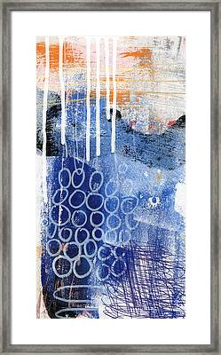 Concerto Two- Colorful Abstract Art Framed Print by Linda Woods