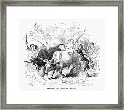 Concord: Evacuation, 1775 Framed Print by Granger