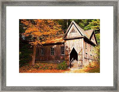 Concord School Of Philosophy Adjacent Framed Print by Brian Jannsen