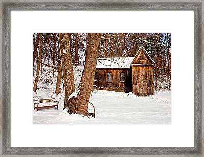 Concord School Of Philosophy Located Framed Print by Brian Jannsen