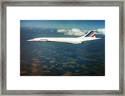 Concorde In Flight Framed Print by Us National Archives