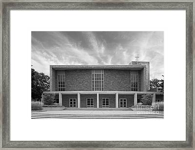 Christs Birthday Framed Print featuring the photograph Concordia University Christ Triumphant Chapel by University Icons