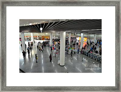Concourse At People's Square Subway Station Shanghai China Framed Print by Imran Ahmed
