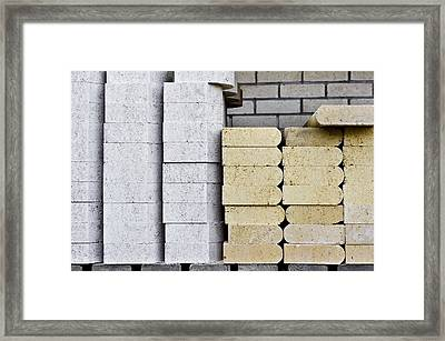 Concrete Slabs Framed Print by Tom Gowanlock