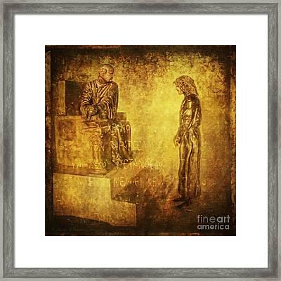 Condemned Via Dolorosa1 Framed Print by Lianne Schneider