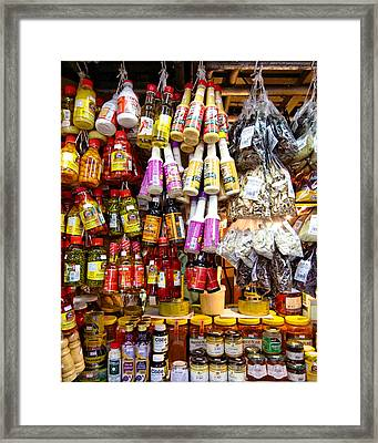 Condiments At Mercade Municipal Framed Print by Julie Niemela