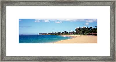 Condominium On The Beach, Maui, Hawaii Framed Print by Panoramic Images