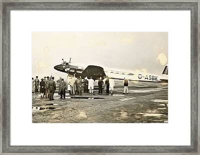 Condor Aircraft Before Take-off Framed Print by Eye On The Reich: German Propaganda Photographs/new York Public Library