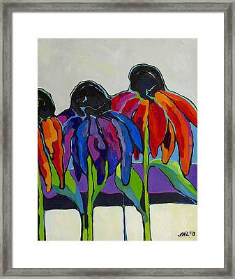 Coneflower Framed Print by Jessi West Lundeen