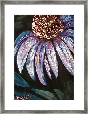 Coneflower Painting Framed Print by Art By Lisabelle