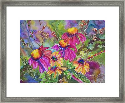 Coneflowers And Co  Framed Print by Blenda Studio
