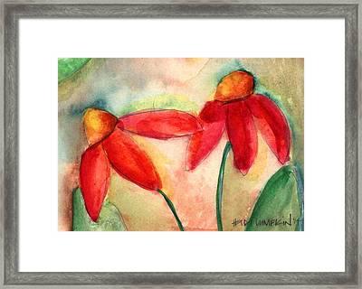 Coneflowers II Framed Print by Heidi Lumpkin