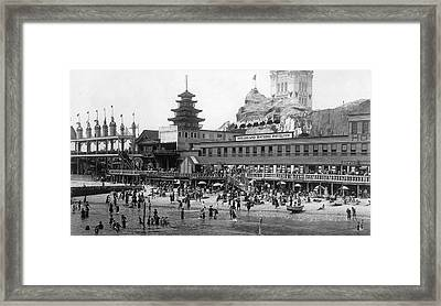 Coney Island - Dreamland Beach Framed Print by MMG Archives