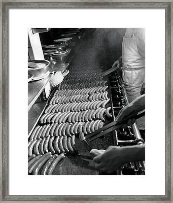 Coney Island - Original Nathans Hotdogs Framed Print by MMG Archives