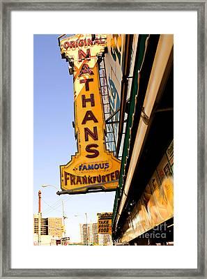 Coney Island Memories 1 Framed Print by Madeline Ellis