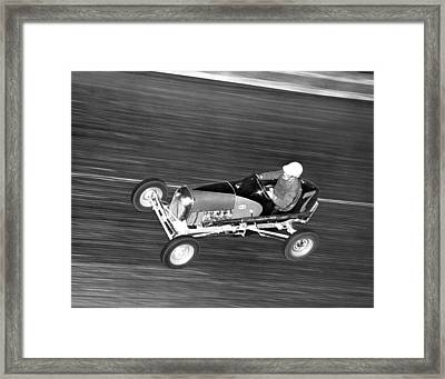 Coney Island Midget Race Car Framed Print by Underwood Archives