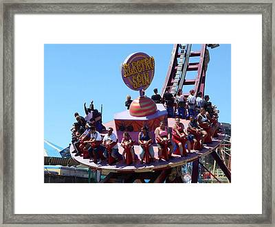 Coney Island The Electric Spin Framed Print by Carolyn Quinn