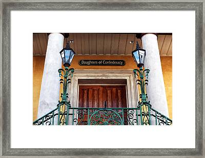 Confederate Entrance Framed Print by John Rizzuto