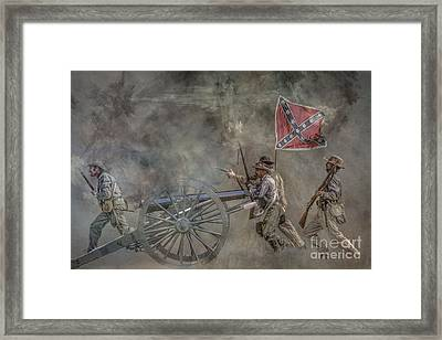 Confederate Infantry Charge Civil War Framed Print by Randy Steele