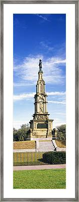 Confederate Memorial In Forsyth Park Framed Print by Panoramic Images