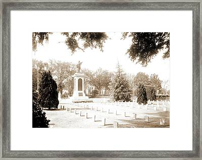 Confederate Monument, Magnolia Cemetery, Charleston Framed Print by Litz Collection