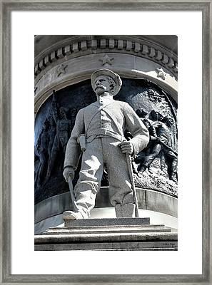 Confederate Soldier II Alabama State Capitol Framed Print by Lesa Fine