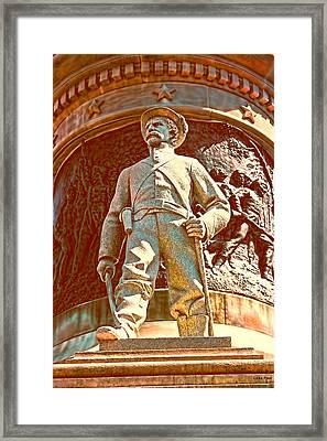 Confederate Soldier Statue I Alabama State Capitol Framed Print by Lesa Fine