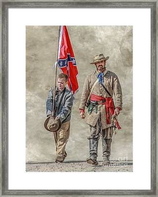 Confederate Sons Framed Print by Randy Steele
