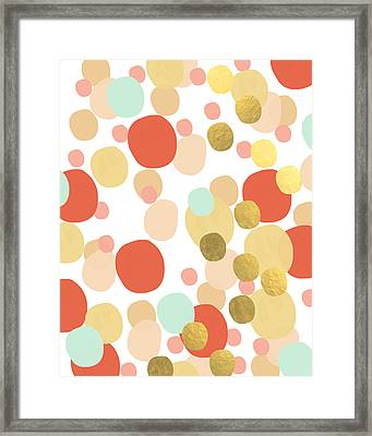 Confetti- Abstract Art Framed Print by Linda Woods