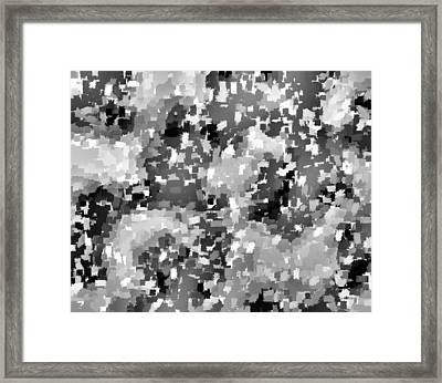 Confetti Black And White II Framed Print by L Brown