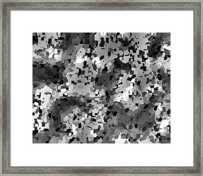 Confetti Black And White Framed Print by L Brown