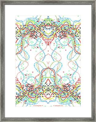 Confetti Rorschach Framed Print by Carol Jacobs