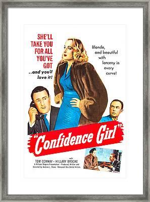 Confidence Girl, Us Poster, Middle Framed Print by Everett