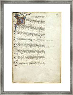 Confirmation Of Magna Carta Framed Print by British Library