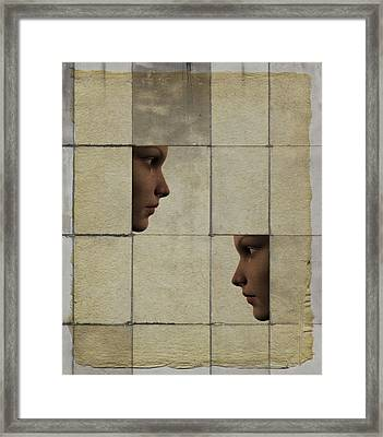 Confrontation Framed Print by David Ridley