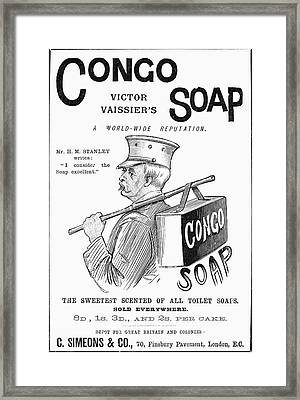 Congo Soap, 1891 Framed Print by Granger