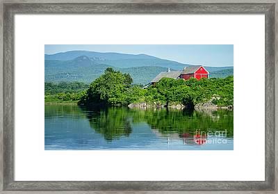 Connecticut River Farm II Framed Print by Edward Fielding