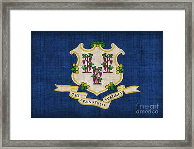 Connecticut State Flag Framed Print by Pixel Chimp