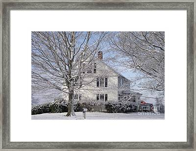 Connecticut Winter Framed Print by Michelle Welles