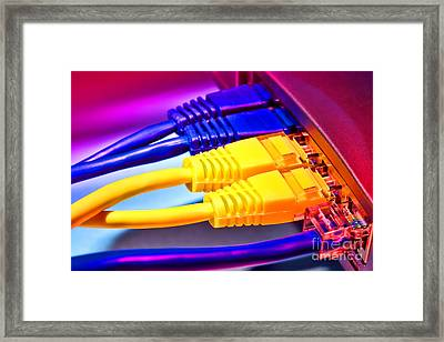 Connection Framed Print by Olivier Le Queinec