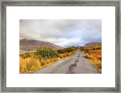 Connemara Roads - Irish Landscape Framed Print by Mark Tisdale